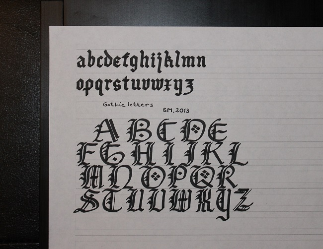 Sebastian Mihai - Novice Calligraphy - Gothic Hand, With Letter Guide